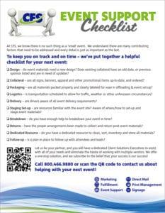Event Support Checklist