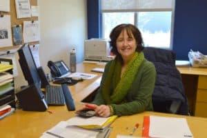 Kelly at Desk