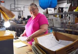 Donna working